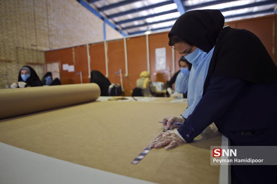 ماسک پارچه آنتی باکتریال در دانشگاه آزاد مشهد فراوری شد