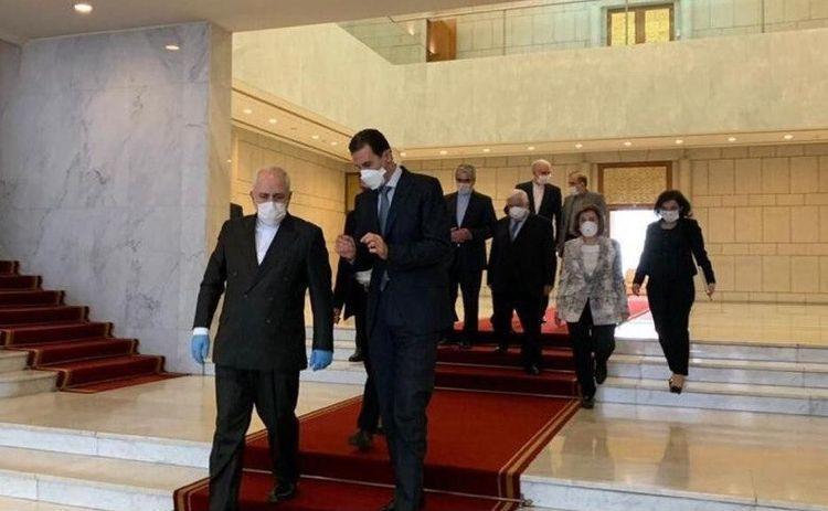 ظریف با بشار اسد و ولید معلم ملاقات کرد