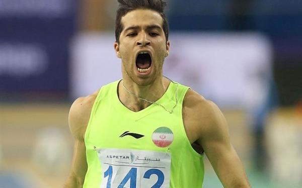 رکورد دو صد متر ایران شکسته شد